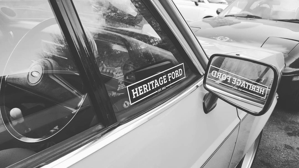 HeritageFord logo on car
